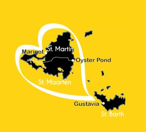 carte St Martin st Barth